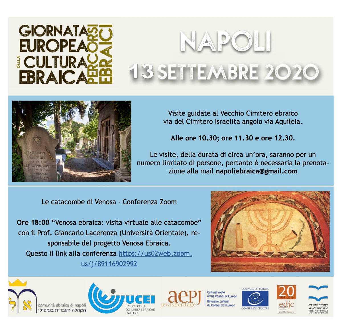 European Day of Jewish Culture 2020